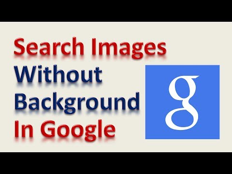 Search Images Without a Background in Google