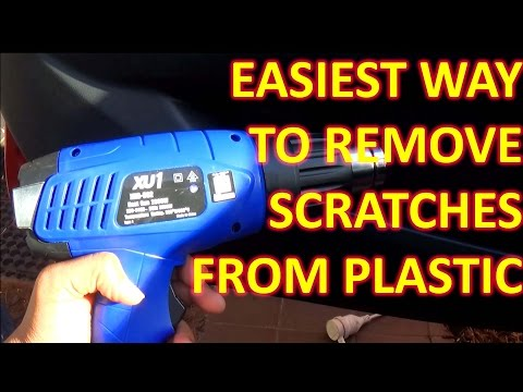 How to remove SCRATCHES  from plastic PERMANANTLY