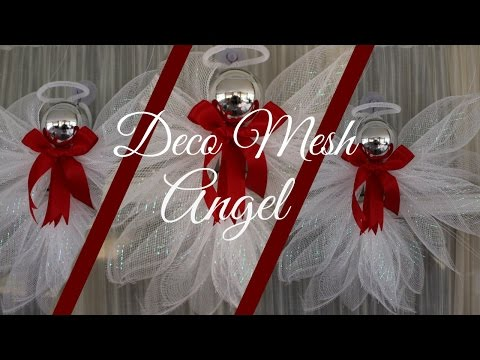 Deco Mesh Angel Tutorial Less than $2.00!! Dollar Tree DIY | Hip 'n Creative