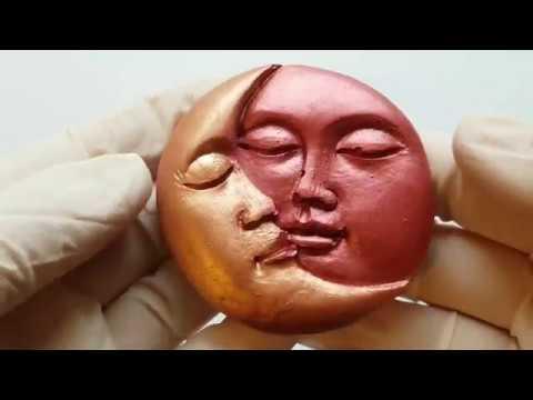 FROZEN PAINT MIXING: MOON EMBRACING THE SUN