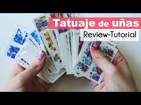 Como aplicar tatuajes para uñas chinos / tattoo nails