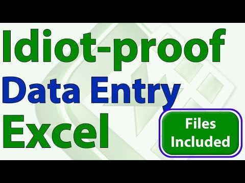 Idiot-Proof Excel - 5 - Save Data from a Form