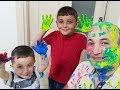 Play-doh Boya İle Etkinlik, Esir Alınan Babayı Boyadılar