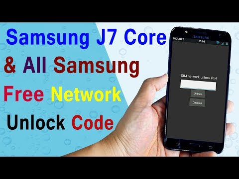 Samsung J7 Core Country Lock Unlock SIM Network Unlock CODE FREE | All Samsung