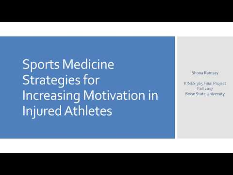 Sports Medicine Strategies for Increasing Motivation in Injured Athletes