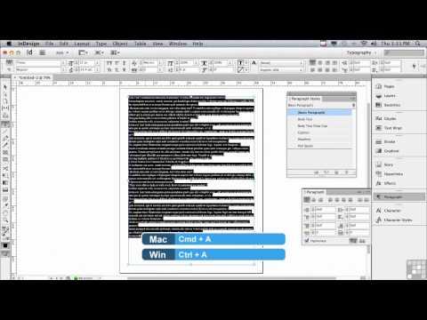 Adobe InDesign CS6 Tutorials | Long Documents | InfiniteSkills