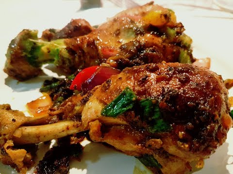 Best Keto Chilli Chicken - Low Carb Hot and Spicy Chicken Drumsticks cooked in hot sauces.