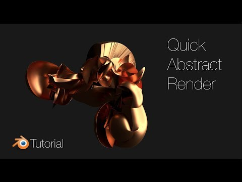 Blender Tutorial: Quick Abstract Renders Using Modifiers, Beginner Tutorial