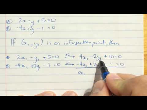 Solving Linear Systems by Elimination - Part 2 Parallel Lines
