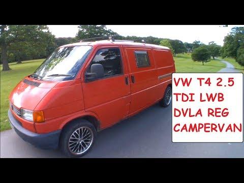 VW T4 Campervan Conversion Tour - DVLA Registered VW Campervan 2.5TDI LWB DIY Camper Conversion
