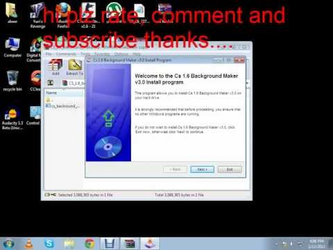 how to change counter strike 1.6 background (tutorial) NEW working!!!!!!!