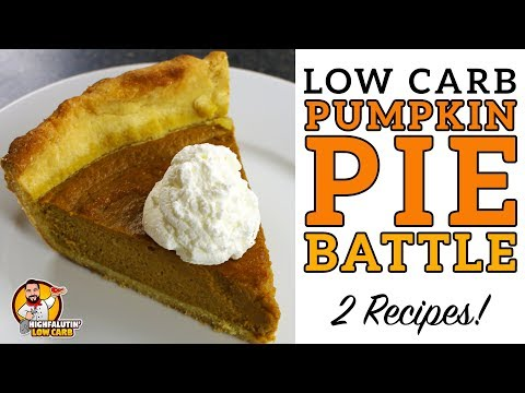 Low Carb PUMPKIN PIE BATTLE - The BEST Keto Pumpkin Pie Recipe! - Lowcarb Thanksgiving Recipe
