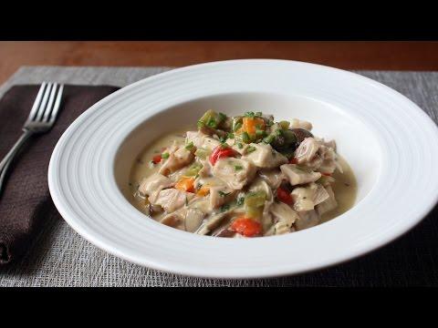 Chicken à la King Recipe - Creamy Chicken, Mushroom, and Pepper Gravy