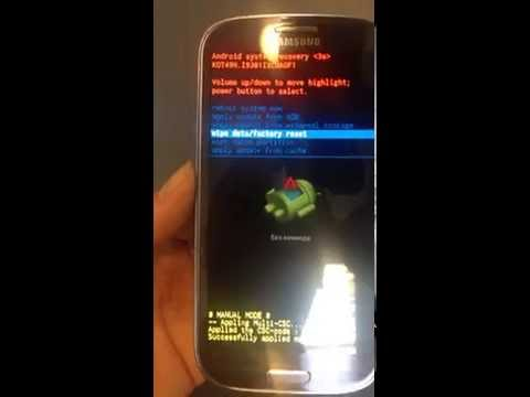 SAMSUNG I9301I Galaxy S3 Neo - How to unlock phone lock by hard reset