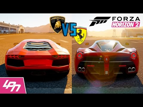 FORZA HORIZON 2 - LAMBORGHINI VS FERRARI (Xbox One) / Lets Play Forza Horizon 2