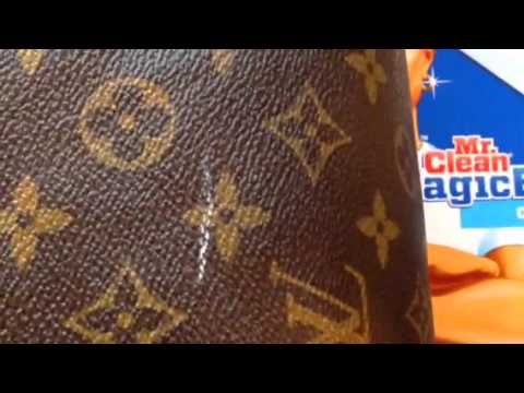 Louis Vuitton scuff cleaning