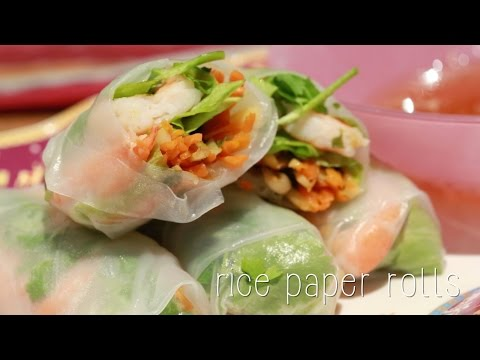 How to make Easy Rice Paper Rolls