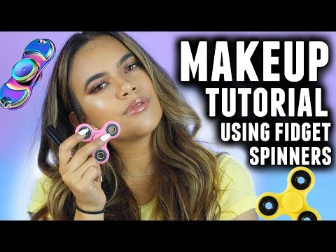 A Legit Makeup Tutorial Using FIDGET SPINNERS!!!