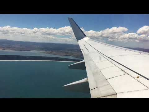 Take-off at Hobart airport, Tasmania, Virgin Australia B737-800 flight Hobart – Brisbane