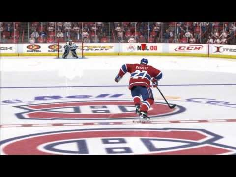 NHL 08 - My First Shootout Win Versus The CPU - Montreal Vs. Vancouver