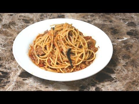 Spaghetti & meat sauce   (Bolognese sauce)