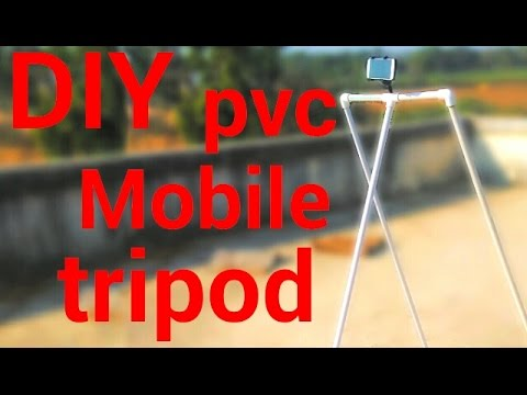 DIY pvc pipe mobile tripod stand. (how to make diy mobile tripod stand?)