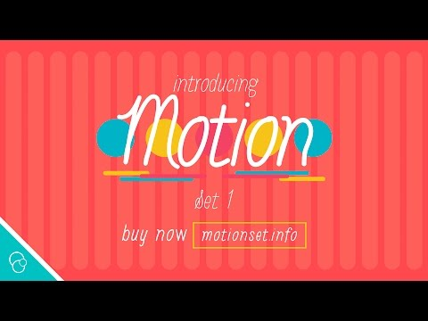 Introducing Motion Set 1 (4K) - Motion Background