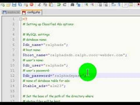 Install Classified Ads PHP Script