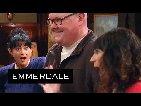 Emmerdale - Chas and Paddy Nervously Announce Their Good News