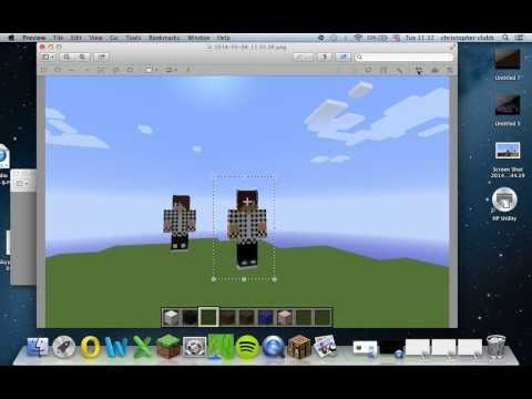 how to create a minecraft skin statue