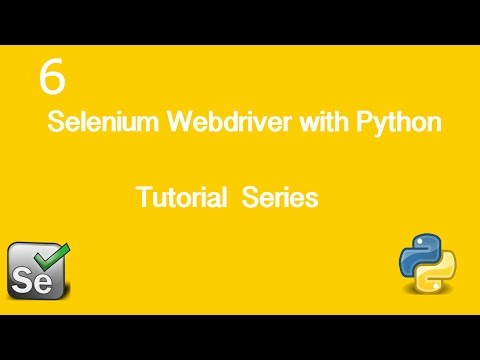 6. Selenium Webdriver with Python Tutorial - Basic Actions #2