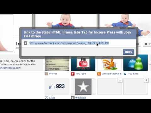Customize - Edit Facebook Tabs (on TIMELINE)