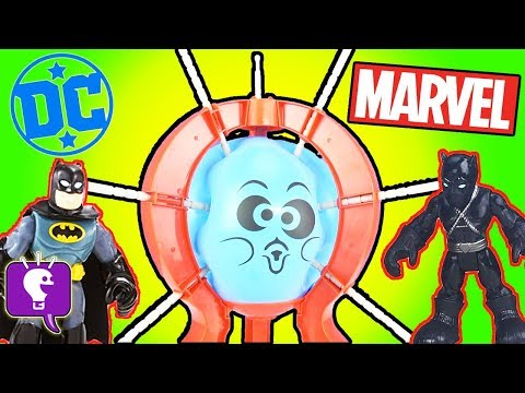 Black Panther Plays Boom Boom Balloon Game! Surprise Toys with HobbyKidsTV