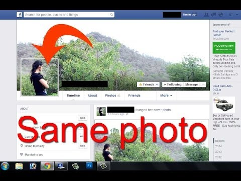 how to create Facebook cover and profile picture same in adobe Photoshop
