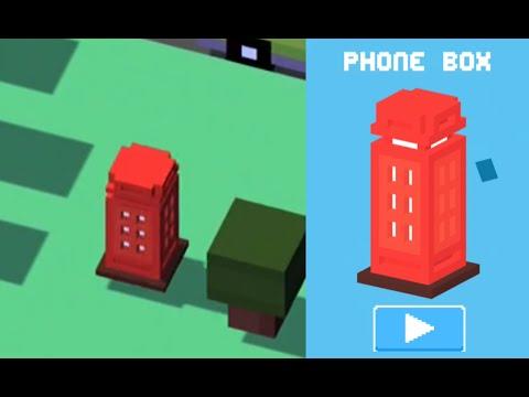 CROSSY ROAD Unlock PHONE BOX Secret Character | UK Update | iOS Gameplay