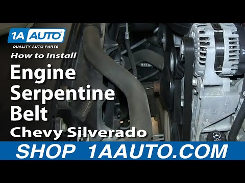 How To Install Replace Change Engine Serpentine Belt 2007-13 Chevy Silverado GMC Sierra