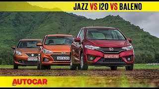 Hyundai i20 CVT vs Honda Jazz vs Maruti Baleno | Comparison Review | Autocar India