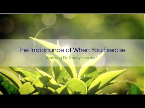 The Importance of When You Exercise -- vpk by Maharishi Ayurveda