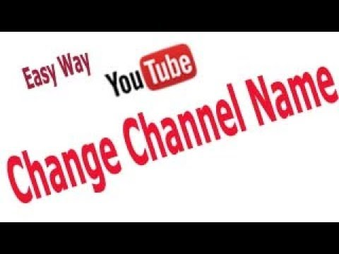 How to change YouTube channel name without changing gmail account name
