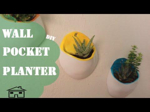 Wall Pocket Planter - DIY