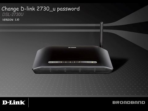 How to change D-link ADSL 2730u Wifi server name & password 2015 (firmware 1.10)