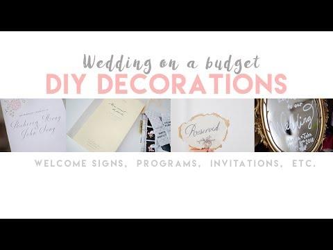 Wedding on a budget: DIY DECOR IDEAS