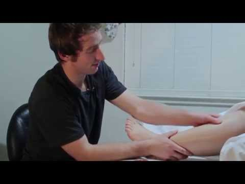 Massaging out scar tissue from ankle Injuries | Muscle Wisdom |