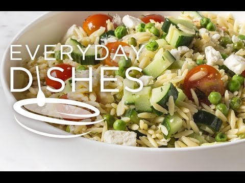 Lemon Cucumber Orzo Salad