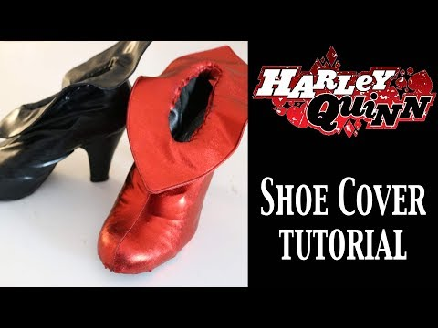DIY Harley Quinn Boot Covers
