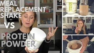 What is the difference between protein powder and meal replacement shake?