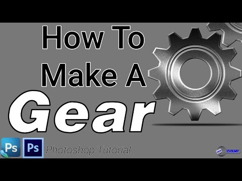 How To Make A Gear | PHOTOSHOP TUTORIAL| 2017 | TECH CHAMP