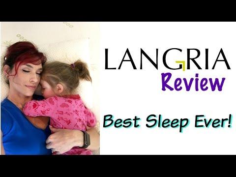Langria Memory Foam Bed Topper and Shredded Memory Foam Pillow Review