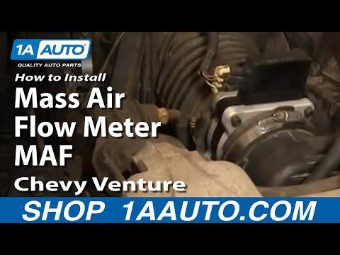 How To Install Replace Mass Air Flow Meter MAF Chevy Venture Pontiac Montana 97-05 1AAuto.com