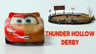 CRASH & SMASH Cars 3 Thunder Hollow Crazy 8 RACE Demolition Derby Lightning McQueen Miss Fritter